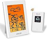 BALDR B0134 Wetterstation Funk mit Außensensor, Digital Thermometer Hygrometer Innen und...