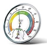 airself Thermohygrometer analog für innen – Raumthermometer und Feuchtigkeitsmesser in einem...