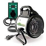 Bio Green Elektrogebläseheizung Palma, 2000 Watt, Digital-Thermostat, IP X4...