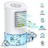 Mobile Klimageräte Mini Luftkühler 4 in 1 Verdunstungskühler Persönliche Klimaanlage Air...