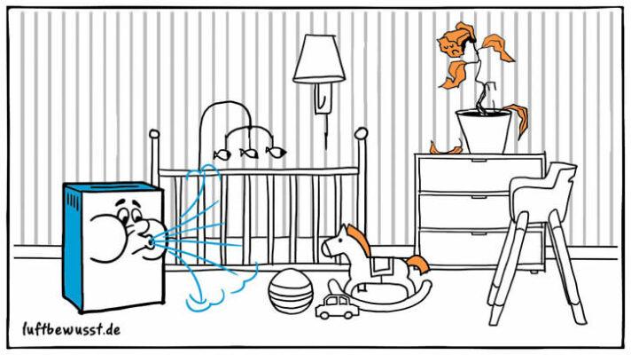 Luftbefeuchter für Babys und Kleinkinder