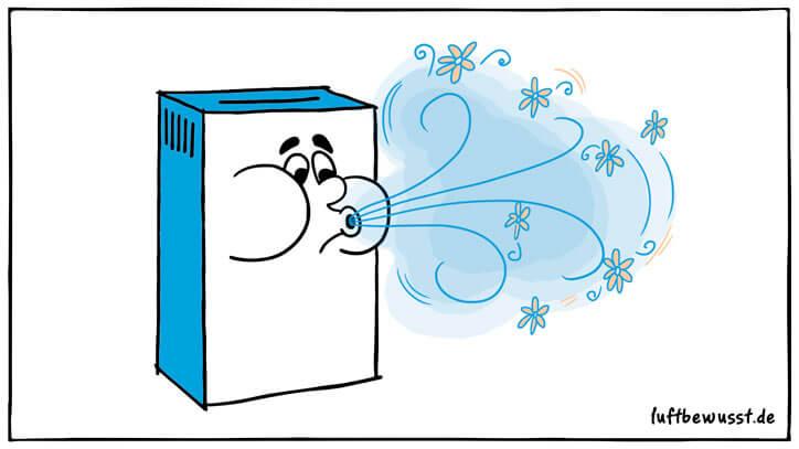 Luftbefeuchter mit Duft