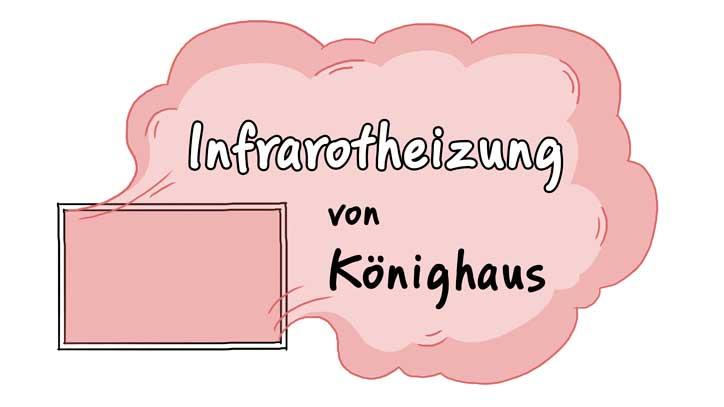 Könighaus Infrarot Heizung P 1000 W TS05 Metallstandfüße TÜV Neu