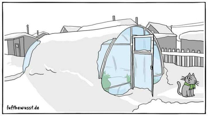 Frostwächter im Gewächshaus anwenden